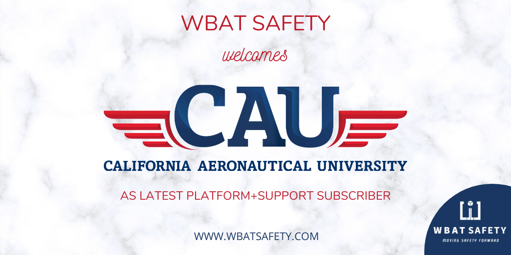 WBAT Safety Welcomes California Aeronautical University as Newest Platform+ Subscriber